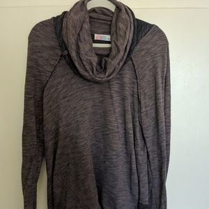 Cotton Cowlneck Longsleeve Shirt